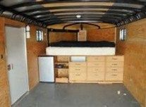 Best enclosed trailer camper coversion ideas (9)