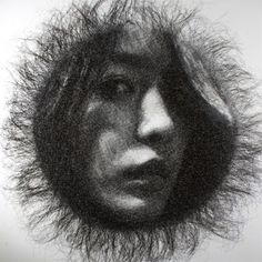 Korean sculptor Seung Mo Park makes extremely detailed portraits out of multiple layers of stainless steel wire mesh.