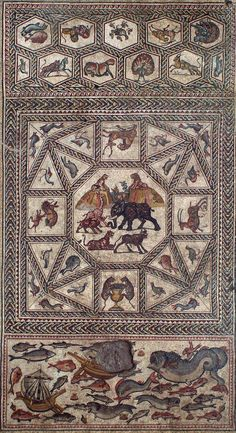 Israel Antiquities Authority yesterday unveiled a large, 1,700-year-old mosaic floor featuring intricate patterns and images of animals, uncovered in the city of Lod, about nine miles southeast of …