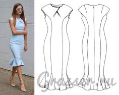 Выкройка платья №472, магазин выкроек grasser.ru #sewing_pattern #pattern #выкройка #выкройки