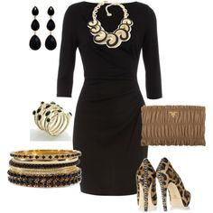 """Black & Leopard"" by yjmunson on Polyvore"