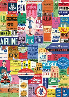 Cavallini Vintage Travel Tags Wrapping Paper by Cavallini Papers & Co… Travel Tickets, Travel Tags, Travel Gifts, Air Travel, Flight Tickets, Travel Books, Air France, Paper Source, Vintage Travel Posters