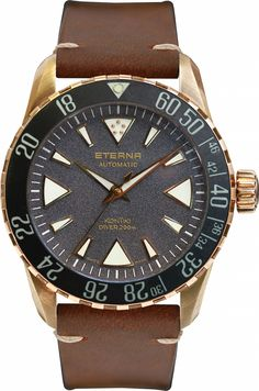 Eterna KonTiki Bronze Manufacture watch honoring the 70th anniversary of the famed KonTiki expedition.