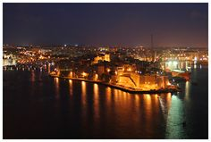 Senglea by night - Senglea, Malta - Photo by Kari Tanskanen