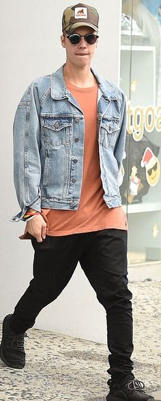 justin bieber denim jacket - Google Search