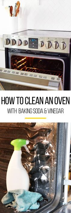Now it's time to get ready for Thanksgiving. This tutorial instructs how to clean an oven with baking soda and vinegar. You can use this to clean both your oven and your oven window so your cleaning and organization is on point for the big day. What you need to make this job easy is baking soda, water, rubber gloves, a damp dish cloth, plastic or silicone spatula, a spray bottle and white vinegar.