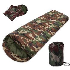 Camp Sleeping Gear Camping & Hiking Windtour Winter Warm Cotton Outdoor Hiking Camping Sleeping Bag Camp Sleeping Gears Sleeping Bags Utmost In Convenience
