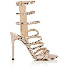 f8bfb6924585 Sergio Rossi Women s Crystal-Embellished Suede Multi-Strap Sandals ( 1