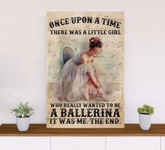 A Little Girl Who Really Wanted To Be A Ballerina Ballet Poster - 36x24inch