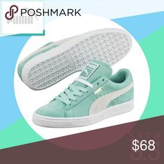 🌻 Mint Green Pumas (BRAND NEW) Mint Green Pumas. These fashion sneakers turn the street into your personal runway. Smooth Rich Suede Outer Sole Provide Grip For Any Terrain Puma Shoes Sneakers Puma Sneakers Shoes, Puma Suede Shoes, Retro Sneakers, Classic Sneakers, Pumas Shoes, Slip On Sneakers, Leather Sneakers, Slip On Shoes, Sneakers Fashion