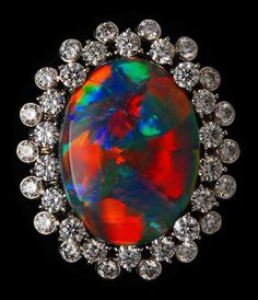 DREAMTIME: RARE Black Opal Ring - Now, if I won the lottery - I'd shop here!