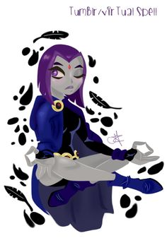 Drawing of Raven from Teen Titans! I hope you like it :D