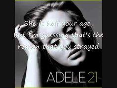 Adele - Rumour has it LYRICS