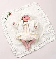 Baby Christening Set-Knit: Intermediate Free patterns download