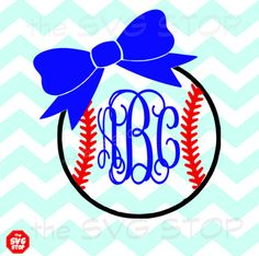 Baseball or Softball with bow Svg Dxf Jpg Png Eps files for Cricut, Silhouette, Vinyl & Screen Printing Baseball Shirt Designs, Cute Shirt Designs, Baseball Tees, Monogram Decal, Monogram Letters, Silhouette Machine, Silhouette Vinyl, Perspective Drawing Lessons, Christmas Svg