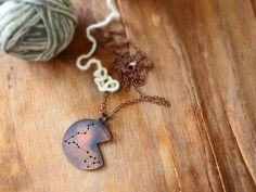Zodiac necklace Pisces constellation  by AlexMalexDesigns on Etsy
