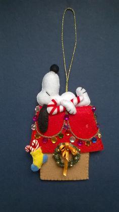 snoopy felt ornament #feltornaments
