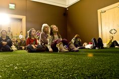 Realistic artificial grass creating a learning zone