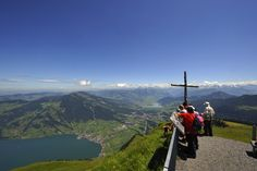 View from summit of Mount Rigi Lake Lucerne Switzerland, Amazing Places On Earth, Walking Holiday, The Good Place, Hiking, Journey, Landscape, City, Austria