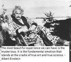 Albert Einstein on the Mysterious and Emotions