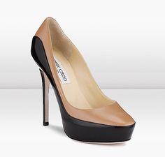 Jimmy Choo | Sepia | Calf and Patent Shoe | JIMMYCHOO.COM