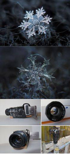 Photographer Tapes a $50 Lens To His Point&shoot Camera To Take Stunning Macro Snowflake Photos