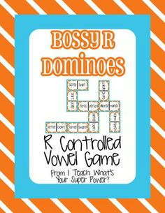 Bossy R: R Controlled Vowel Dominoes Game