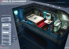 Zero-G Chamber, Neuromancer artwork by Marcel van Vuuren Design. http://marcelvanvuurendesign.blogspot.com/