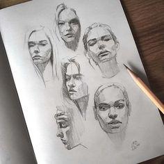 "Páči sa mi to: 2,730, komentáre: 9 – Miroslav Zgabaj (@miro_z_art) na Instagrame: ""Quick sketches  #face #portrait #sketch #sketchbook #paper #pencil #drawing #art #pencilsketch…"""