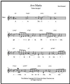 Free Ave Maria Sheet Music with Latin and English Words: In Multiple Keys
