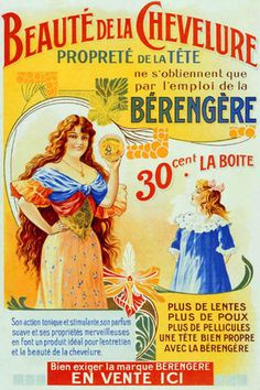 Vintage French Posters | Beaute De La Chevelure - Vintage French Posters Wallpaper Image