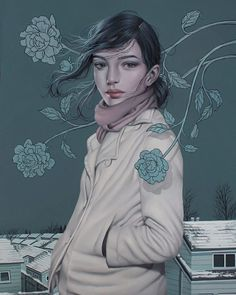'Cold Comfort' a new painting by Sarah Joncas…... #Modern_Eden #Arsetculture #Tumblr_Curator