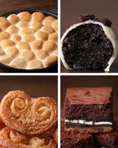 Four desserts with three ingredients in two minutes.