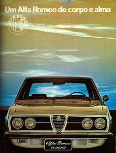 The 2150 was replaced with the This was the end of FNM badged cars, it was changed with the Alfa Romeo badge. The design was similar to the Alfetta but under the skin the 2300 was based technically on the older Alfa Romeo Alfa Cars, Alfa Romeo Cars, Carros Alfa Romeo, All Car Logos, Alfa Romeo Logo, Car Advertising, Top Cars, Vintage Advertisements, Car Pictures