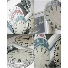 Old CD's with clock face printables #new Year's