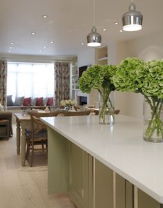 Interior Design Inspiration – Our portfolio showcases how we transformed a London townhouse into a traditional family home with an elegant country feel. London Townhouse, Notting Hill, Interior Design Inspiration, Home And Family, Kitchen, Table, Furniture, Home Decor, Cooking