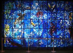 "Marc Chagall - """"Peace Window,"" at the United Nations in New York."