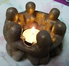 Goddess or Womens Circle Candle Shrine or T-Light Holder