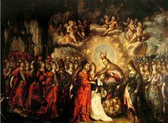 Lactación de Santo Domingo, de Cristobal de Villalpando. Profunda influencia de Rubens.