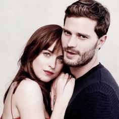 New outtake of Dakota Johnson and Jamie Dornan for Fifty Shades of Grey Promotional Photoshoot