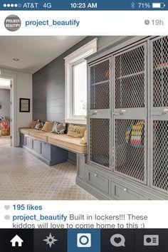 15 Inspiring Laundry + Mudroom Design Ideas – Sanctuary Home Decor Built In Lockers, Built Ins, Mudroom, Interior Design Living Room, Locker Storage, Sports Storage, Small Bathroom, Home Decor, Design Ideas