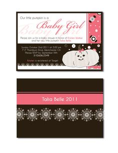 Fall Baby Shower Invitations by amandabroyles on Etsy, $20.00