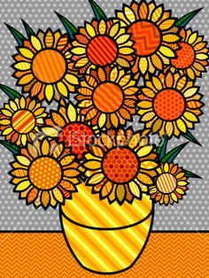 use patterned paper to make a pop art collage with whole class.