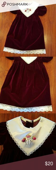 Girls holiday dress by Rose Cottage size 6 A pretty deep purple color. rose cottage Dresses Formal