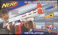 Nerf Retaliator White Out with Orange Mod, Works Well 4 Blasters in 1 #NERF