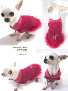 Brand New Gorgeous 100% Hand Made Dog Pet Clothing Clothes Sweater