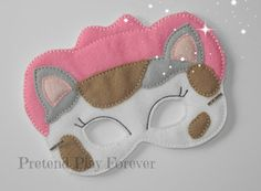 READY TO SHIP    This listing is for one Sheriff Callie Inspired Mask. Watch your kids play for hours with the fun of their favorite masks!