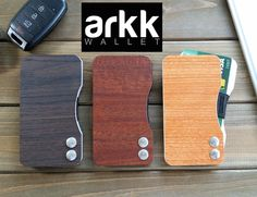 Form follows function with the Arkk Wallet. Its unique pivoting motion provides quick access to cards when needed, secure when not.