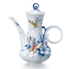 Franz Porcelain Forever Wedding Collection Butterfly Teapot