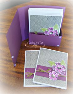 Tutorial: Nevermore Gift Card Set open ~ Paper Garden ~ CatScrapbooking.com